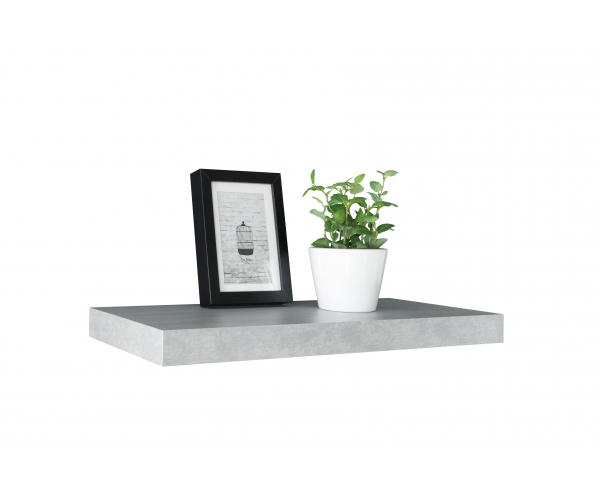 steckboard wandboard h ngeregal wandregal tuna 60 cm breit beton grau ebay. Black Bedroom Furniture Sets. Home Design Ideas