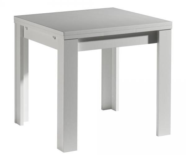 esszimmertisch k chentisch speisezimmer ausziehbar 136 cm zip weiss 80 x 80 cm ebay. Black Bedroom Furniture Sets. Home Design Ideas