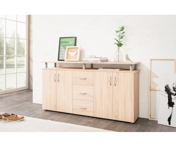 kommode beistellkommode sideboard sonoma eiche nb 001797. Black Bedroom Furniture Sets. Home Design Ideas
