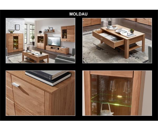 moldau wildeiche bianco wohnwand anbauwand wohnzimmer schrank 4tlg ca 354 cm ebay. Black Bedroom Furniture Sets. Home Design Ideas