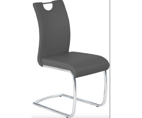 kunstleder grau schwingstuhl esszimmerstuhl k chenstuhl stuhl freischwinger ebay. Black Bedroom Furniture Sets. Home Design Ideas