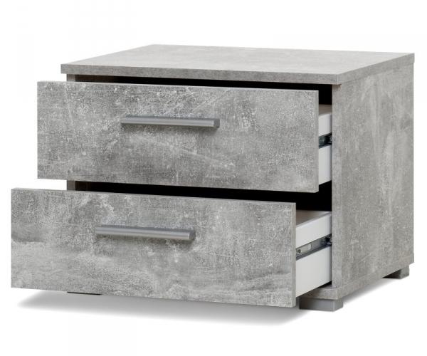002359 elora beton grau nachttisch beistelltisch - Nachttisch beton ...
