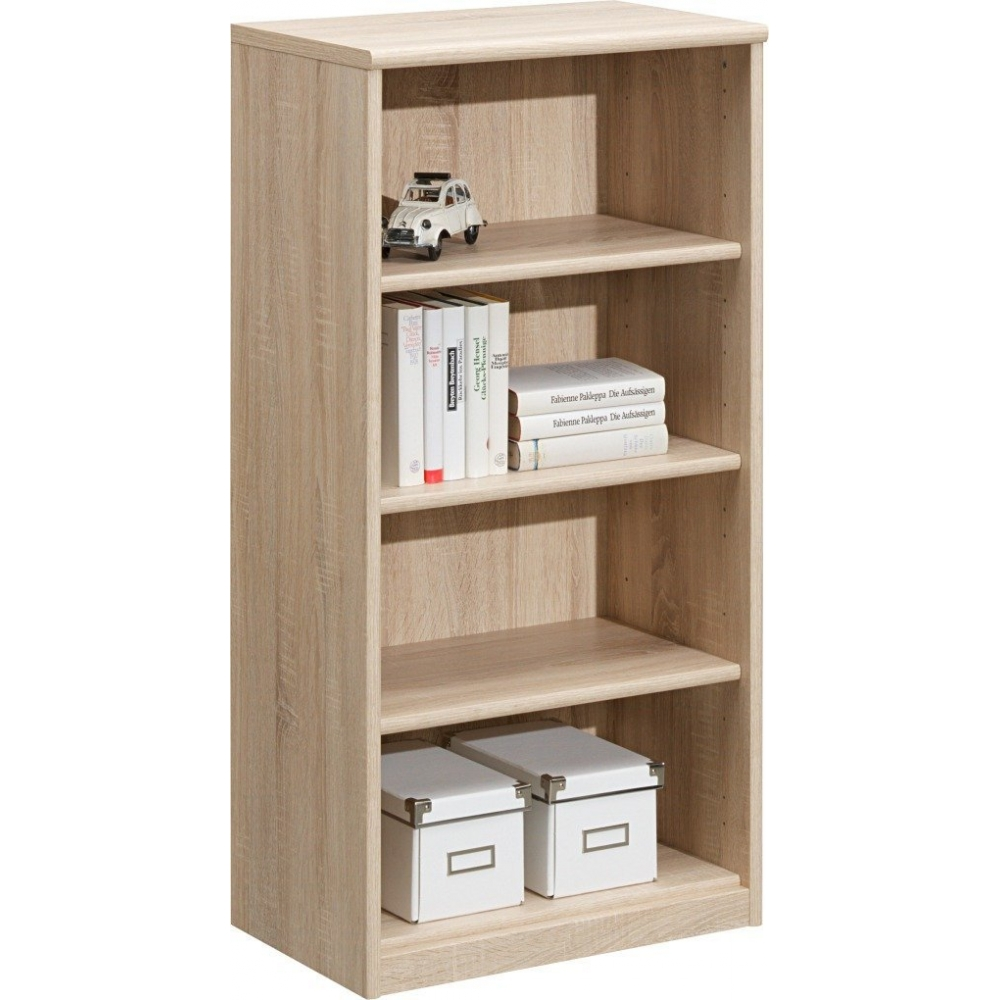 51 41 soft eiche s gerau regal stauraumregal b cherregal schuhregal cs schmal ebay. Black Bedroom Furniture Sets. Home Design Ideas