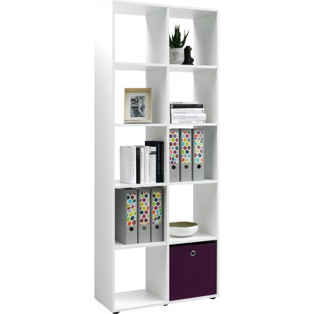 82012 340 cs schmal weiss regal b cherregal stauraumregal raumteiler 70 cm ebay. Black Bedroom Furniture Sets. Home Design Ideas
