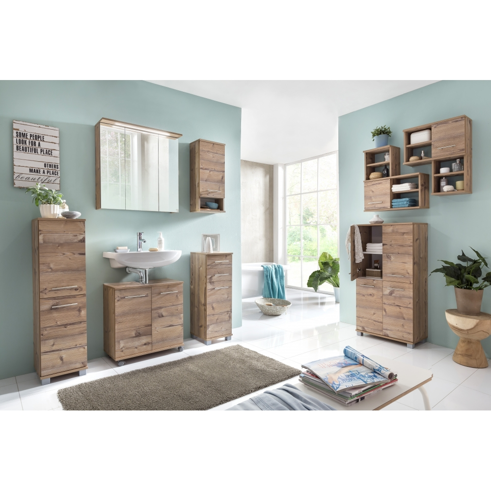 higboard medischrank badschrank badezimmerm bel isola silberfichte 60 cm breit 4027181068540 ebay. Black Bedroom Furniture Sets. Home Design Ideas