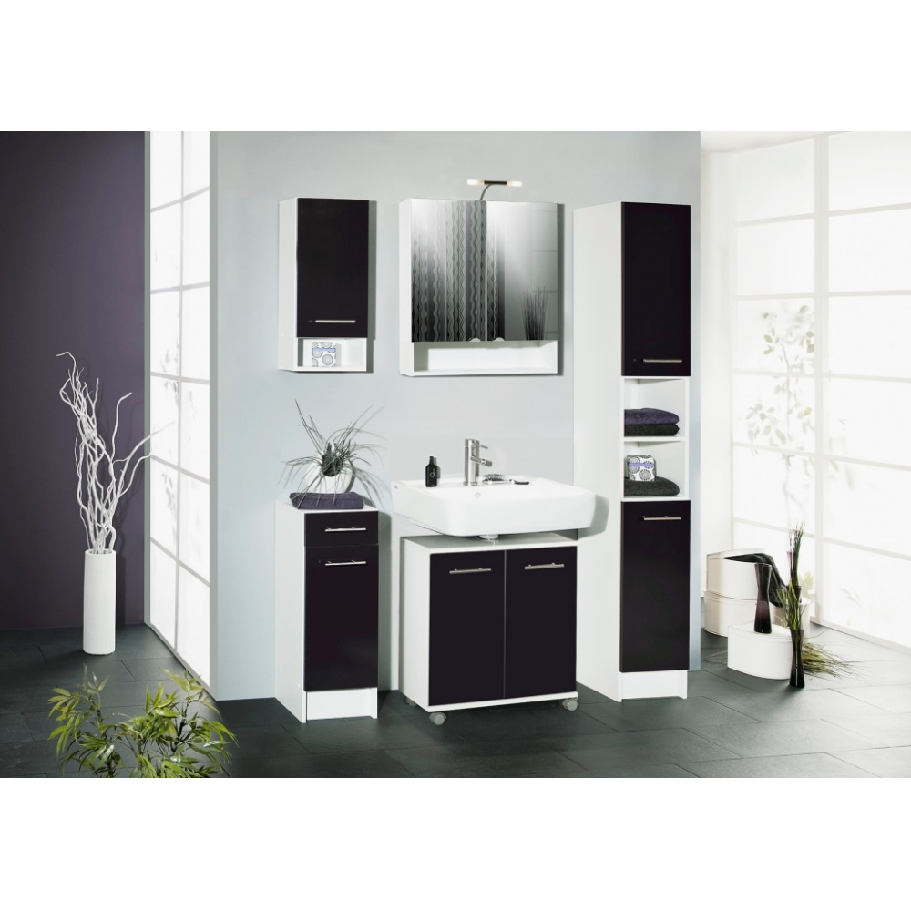 laura weiss kommode seitenschrank klein badschrank schrank mit 1 lade 1 t re 4027181050392 ebay. Black Bedroom Furniture Sets. Home Design Ideas