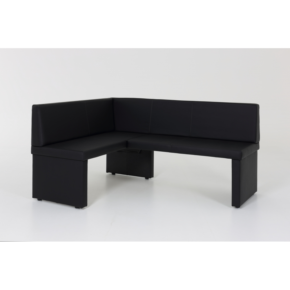 eckbank sitzbank bank kunstleder schwarz schenkel lang. Black Bedroom Furniture Sets. Home Design Ideas