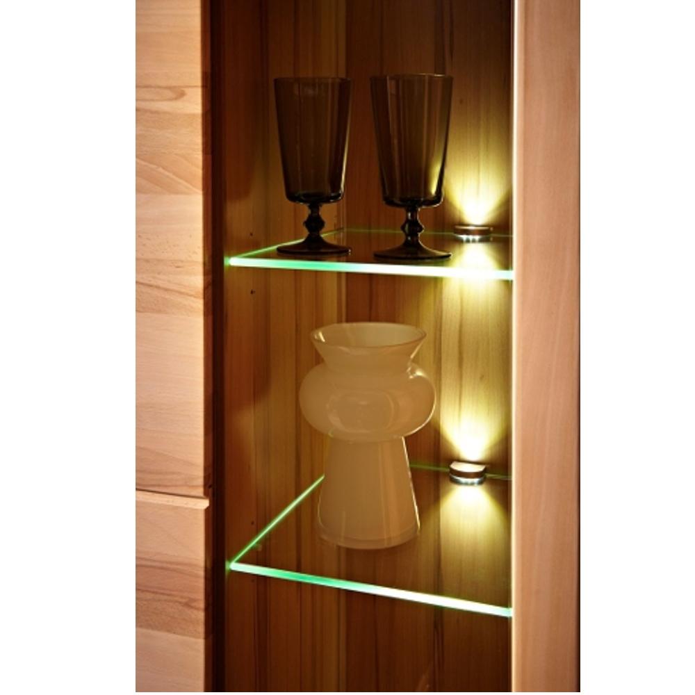 inkana kernbuche teilmassiv vitrine klein standvitrine ca 85 cm breit ebay. Black Bedroom Furniture Sets. Home Design Ideas