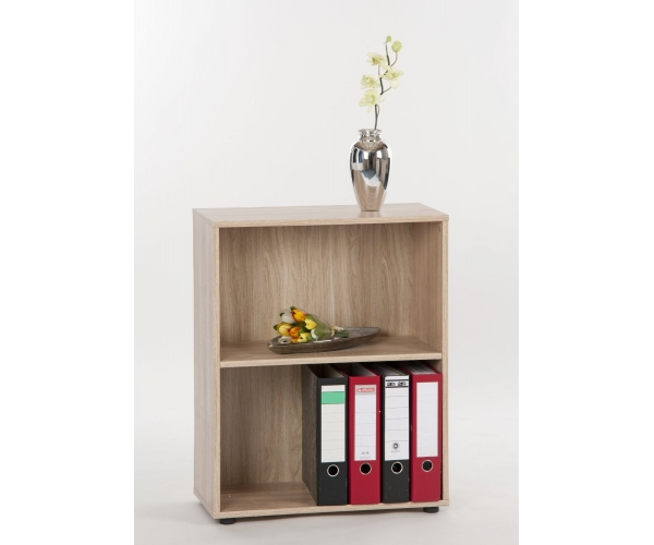 regal holzregal b cherregal aktentregal b roregal eiche dekor office 75 cm hoch ebay. Black Bedroom Furniture Sets. Home Design Ideas
