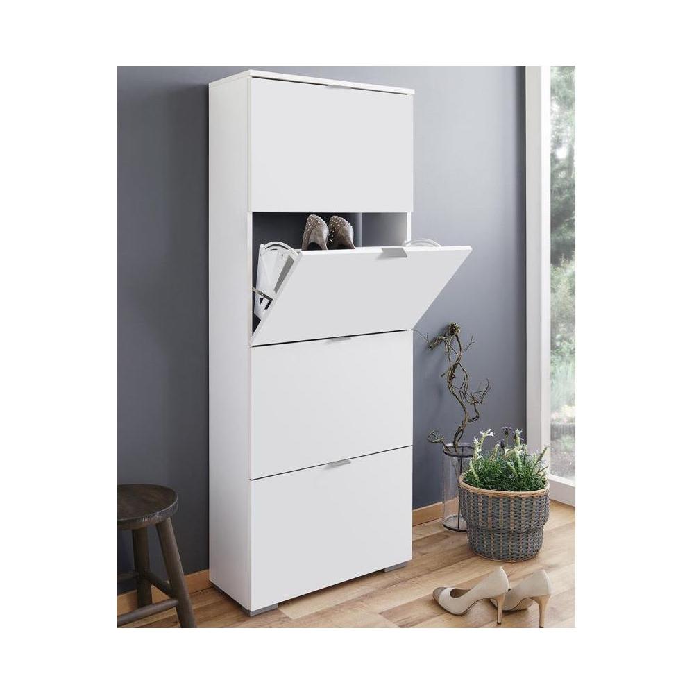 schuhkipper schuhschrank schuhregal schuhkommode frankfurt 3 wei hochglanz ebay. Black Bedroom Furniture Sets. Home Design Ideas