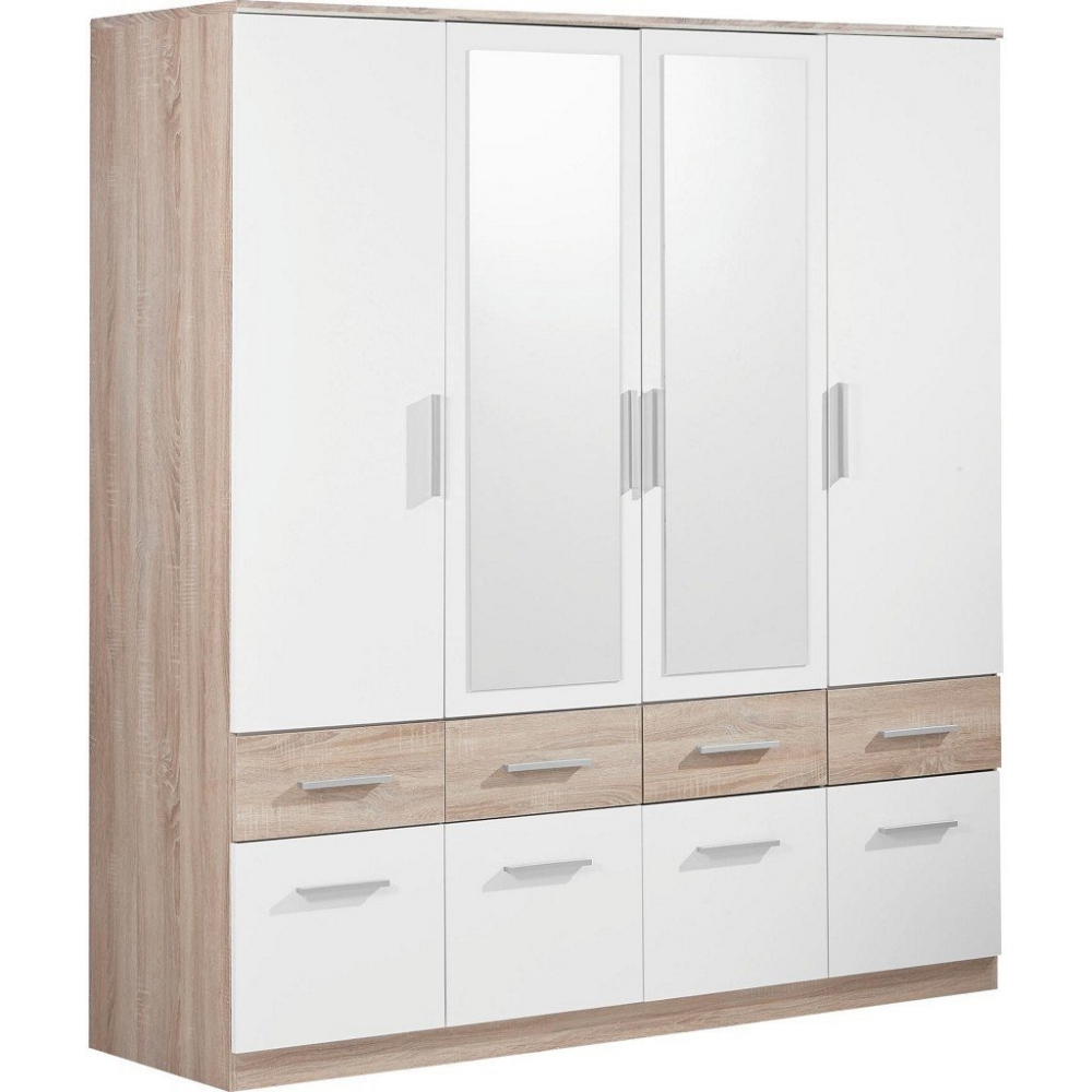 58 344 68 kleiderschrank stauraumschrank dreht renschrank box 4 eiche weiss ebay. Black Bedroom Furniture Sets. Home Design Ideas