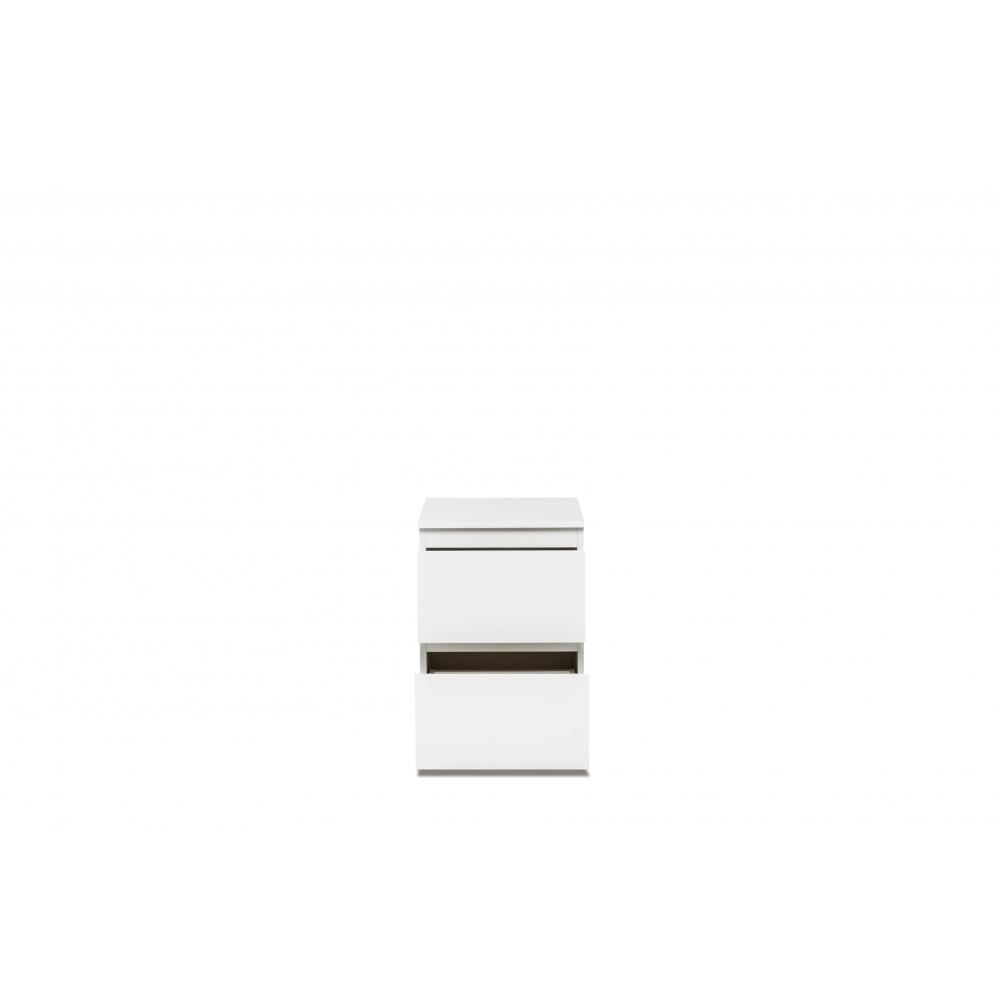 nachttisch nachtkommode nachttischkonsole image 60 weiss matt 2 schubladen ebay. Black Bedroom Furniture Sets. Home Design Ideas
