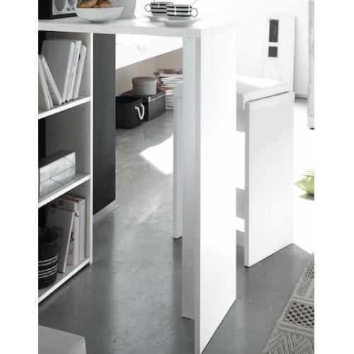 0528 00 wei tresentisch mit regal theke bar bartisch ca. Black Bedroom Furniture Sets. Home Design Ideas